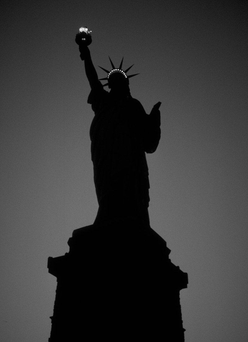 Statue of Liberty Monument at Night